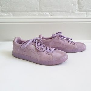 Puma Lavender Lilac Suede Emboss Sneakers Sz. 10